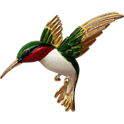 Gerry's Humming Bird in Flight Pin
