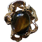 Tiger's Eye 18KT HGE Ring by Uncas Mfg. Co.