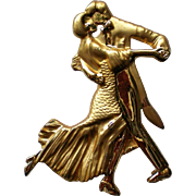 Figural Dancing Couple Pin
