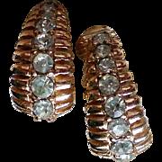 Trifari Crown Clip Earrings
