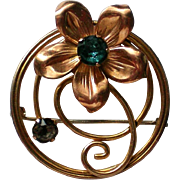 Van Dell 12K Gold Fill Brooch / Pendant