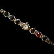 Gloria Vanderbilt Faceted Multi-Stone Watch