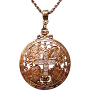 Religious Crystal Cross Pendant from The Vatican Library Collection