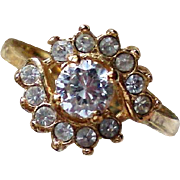 CZ Ladies Cocktail Ring Size 8