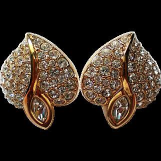 Swarovski Crystal Valentine Heart Clip Earrings