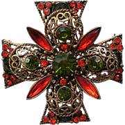 Emmons Filigree Maltese Cross – Book Piece