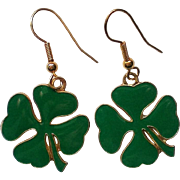 Irish Shamrock St. Patrick's Day Dangle Earrings