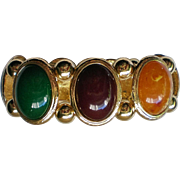 Chunky Multi-Colored Oval Cabochon Link Bracelet