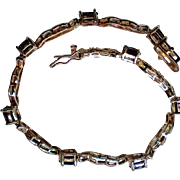 February Gemstone Amethyst Link Bracelet
