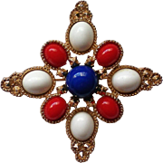 Americana Patriotic Red White and Blue Pin by Sarah Coventry