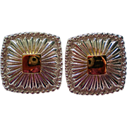 Avon NR for Nina Ricci Silver & Gold tone Pierced Earrings