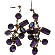 Amethyst Caged Crystal Dangle Earrings
