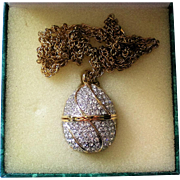 Easter Egg Pendant Necklace Watch by Suzanne Somers