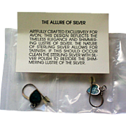 Avon Sterling Silver Turquoise Heart Drop Earrings