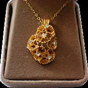 Elegante' by Lady Monaco Gold Tone Free Form Pendant