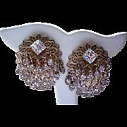 Jingle Jangle Cha Cha Rhinestone Clip Earrings