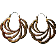 Avon Sweeping Swirl Pierced Hoop Earrings