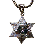 Swarovski Crystal Sterling Vermeil Star of David Pendant