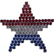 Patriotic American Flag Star Pin