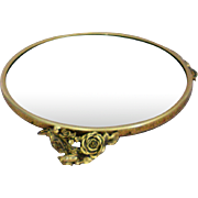 Matson Round Footed Vanity Dresser Mirror in Rose Pattern