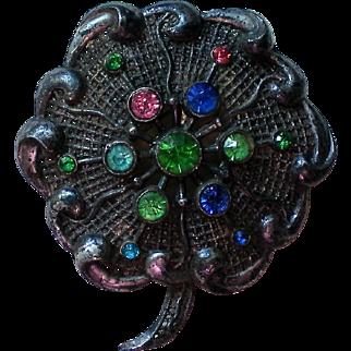 Little Nemo Pot Metal Flower Brooch signed LN/25