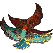 Laurel Burch Ethereal Birds Pin