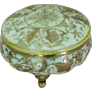 Nippon Hand Painted Gilded Dresser or Trinket Box