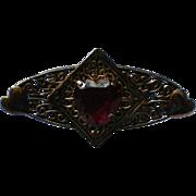 Ruby Heart Valentine Rhinestone Sash Pin