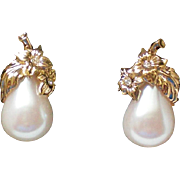 Avon Precious Pear Clip Earrings
