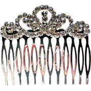 Rhinestone Studded Metal Hair Comb