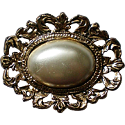 Faux Pearl Edwardian Inspired Brooch