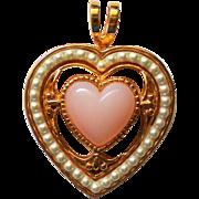 Pink Heart Valentine Pendant