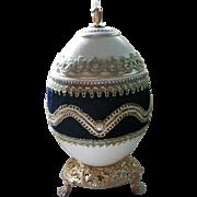 Russian Faberge Egg Design Trinket Dresser Vanity Music Box - Doctor Zhivago