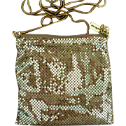 Whiting and Davis Gold Mesh Bag with Snake Chain