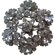 Enormous Star Rhinestone Brooch