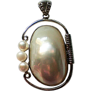 Large Blister Pearl Pendant