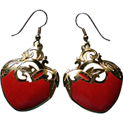 Edgar Berebi Valentine Heart Pierced Dangle Earrings