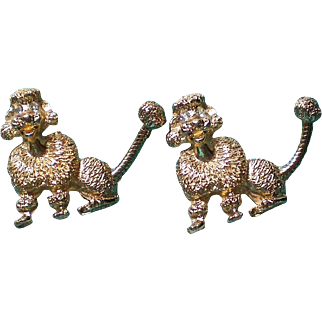Golden Poodle Dog Scatter Pins with Movable Tails