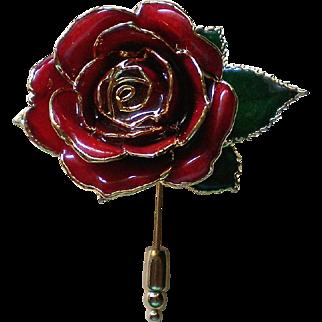 Rose Flower Stick Pin