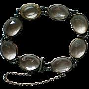 Bezel Set Caged Crystal Art Deco Bracelet