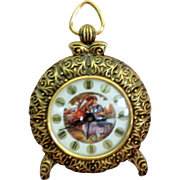 Metal Ormolu Wind Up Alarm Clock
