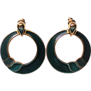 Trifari Large Hoop Pierced Earrings