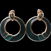 Trifari Large Hoop Pierced Earrings