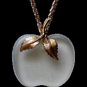 Avon Frosted Glass Apple for the Teacher Pendant
