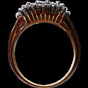 CZ Four Stone Wedding Band Ring