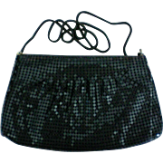 Black Metal Mesh Shoulder or Clutch Evening Bag
