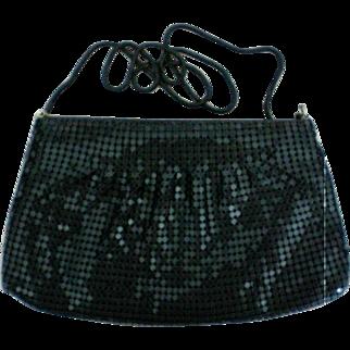 Black Metal Mesh Shoulder or Clutch Evening Bag