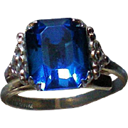 Kiddiegem Blue Stone Ring