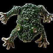 Sassy Green Frog Pin