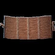 Fabulous Bijoux Petite Gold tone Bead with Rhinestone Bars Bracelet
